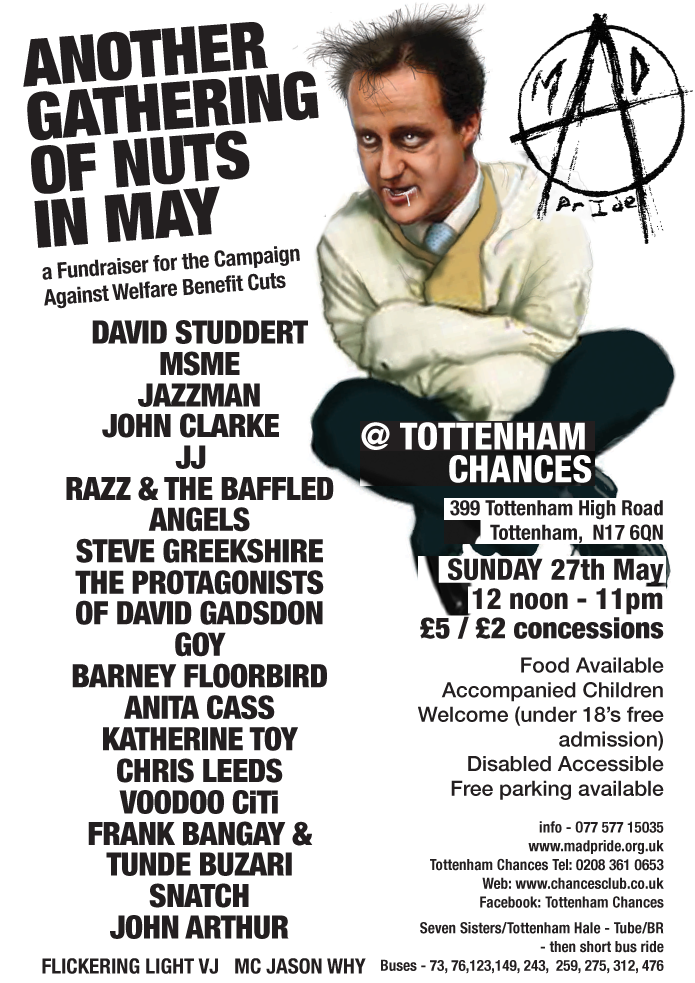 Another Gathering of Nuts in May at Tottenham Chances on 27th May 2012 - Snatch, Jazzman John, Frank Bangay and many more