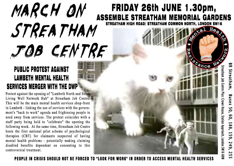 Protest at Streatham Job Centre - June 26th 2015