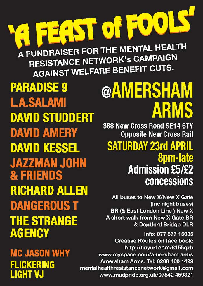 Amersham Arms April 23rd 2011 Poster 02
