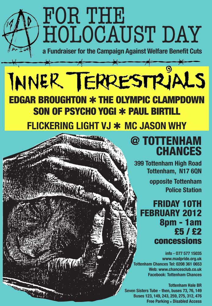 Inner Terrestials and Edgar Broughton concert at Tottenham Chances on Feb 10th 2012